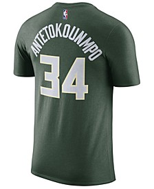 Men's Giannis Antetokounmpo Milwaukee Bucks Name & Number Player T-Shirt