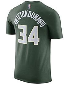Men's Giannis Antetokounmpo Milwaukee Bucks Name & Number Player T-Shirt