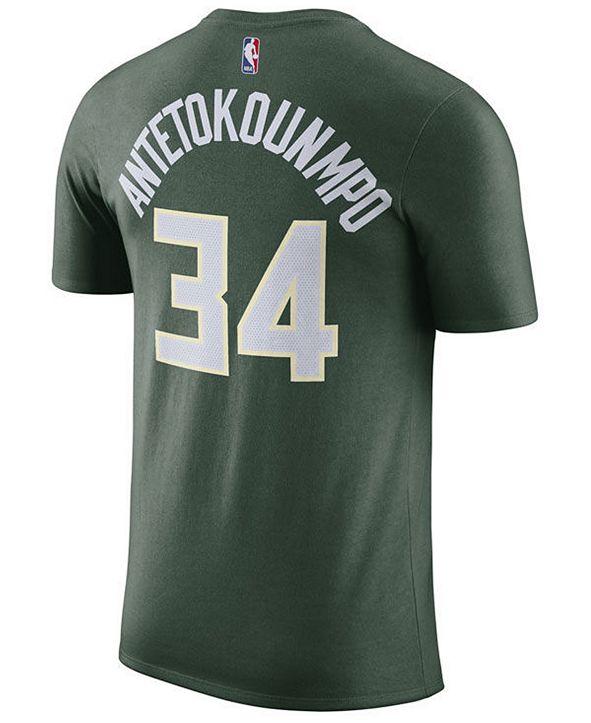 Nike Men's Giannis Antetokounmpo Milwaukee Bucks Name & Number Player T-Shirt