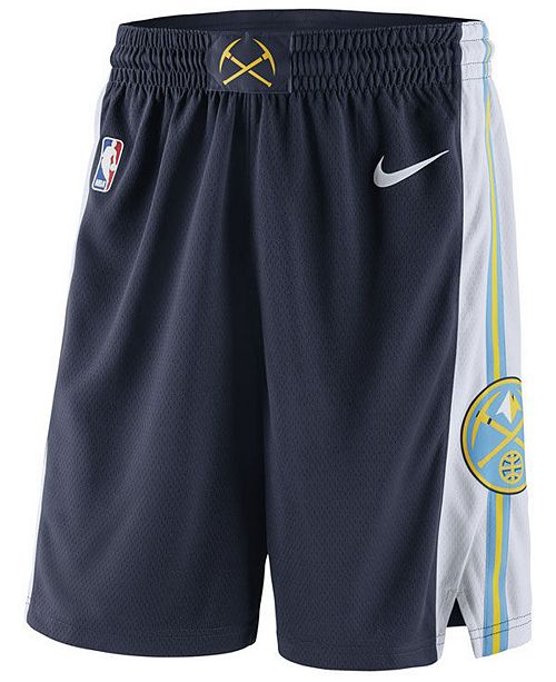 Nike Men s Denver Nuggets Icon Swingman Shorts - Sports Fan Shop By ... 8bc603340