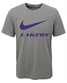Nike Los Angeles Lakers Swoosh Team T-Shirt, Big Boys (8-20)