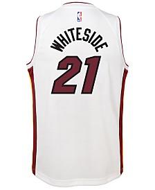 Nike Hassan Whiteside Miami Heat Association Swingman Jersey, Big Boys (8-20)