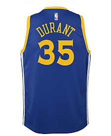 Nike Kevin Durant Golden State Warriors Icon Swingman Jersey, Big Boys (8-20)