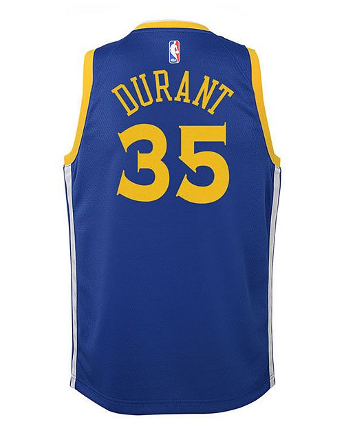 Nike Kevin Durant Golden State Warriors Icon Swingman Jersey, Big Boys (8-20)