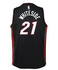 Nike Hassan Whiteside Miami Heat Icon Swingman Jersey, Big Boys (8-20)