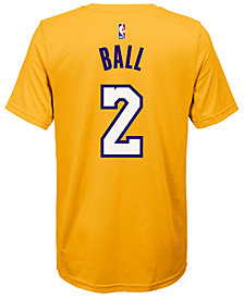 Nike Lonzo Ball Los Angeles Lakers Icon Name & Number T-Shirt, Big Boys (8-20)