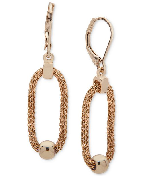 Anne Klein Gold-Tone Bead & Link Drop Earrings