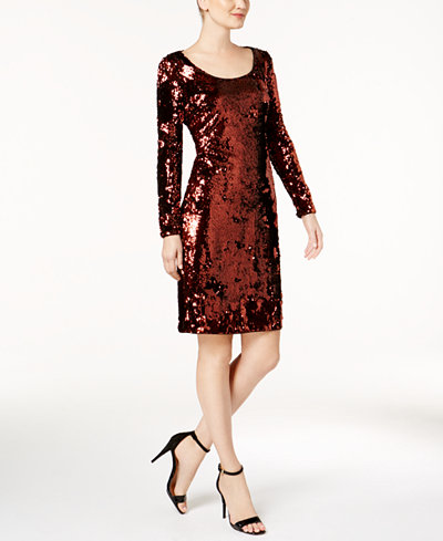 Calvin Klein Sequined Sheath Dress