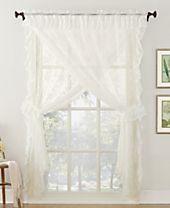 Lichtenberg No. 918 Alison Priscilla 5-Pc. Ruffled Floral Lace Sheer Curtain Set