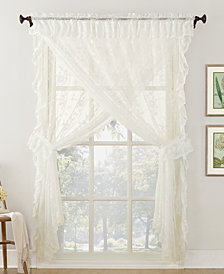 Lichtenberg No. 918 Alison Priscilla 5-Pc. Ruffled Floral Lace Sheer Curtain Set
