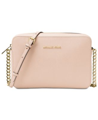 East West Crossgrain Leather Crossbody