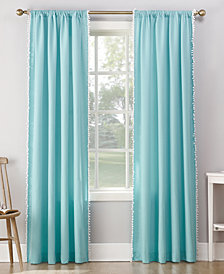 Lichtenberg No. 918 Gigi Pom Pom Microfiber Rod-Pocket Curtain Panels