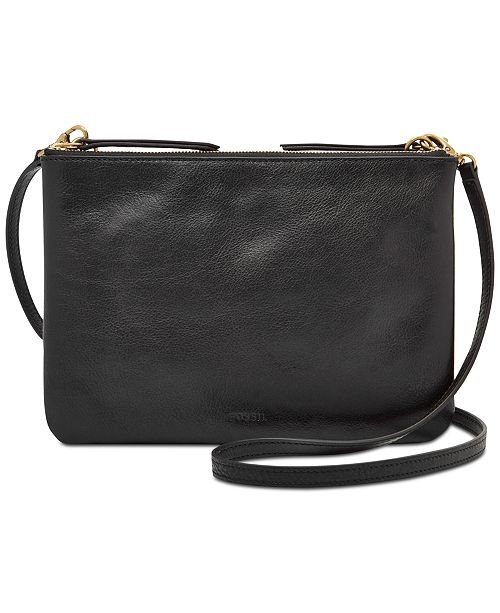 Fossil Devon Small Leather Crossbody   Reviews - Handbags ... 793a83cbc148d