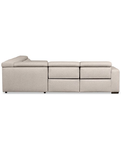 Furniture Nevio 5 Pc Fabric Sectional Sofa With Chaise 1