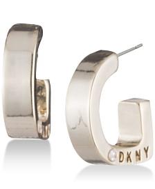 """DKNY Logo 1/2"""" Huggie Hoop Earrings, Created for Macy's"""