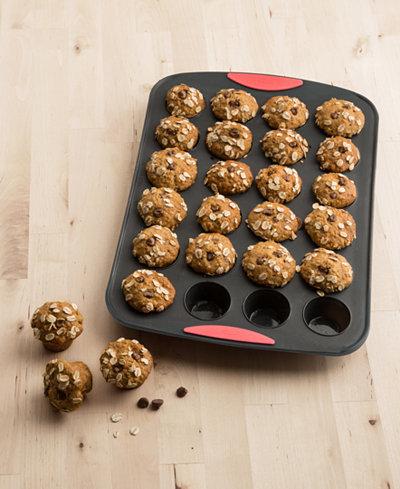 Trudeau 24 Count Mini Muffin Pan Coral