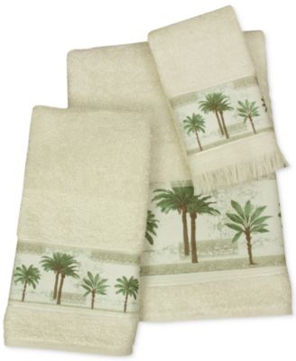 Citrus Cotton Palm-Print Bath Towel