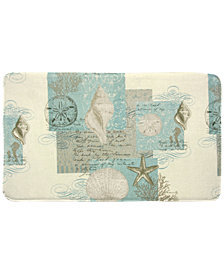 "Bacova Coastal Moonlight 20"" x 34"" Graphic-Print Memory Foam Bath Rug"