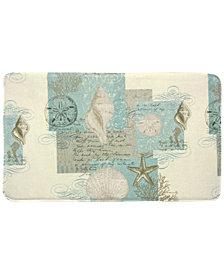 "Bacova Coastal Moonlight 20"" x 34"" Graphic-Print Memory Foam Bath Rug"
