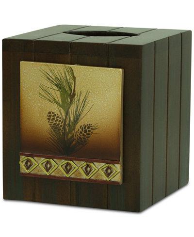 Bacova Pinecone Silhouettes Tissue Cover