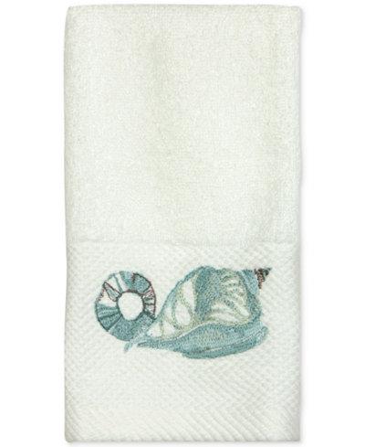 Bacova La Mer Cotton Embroidered Fingertip Towel