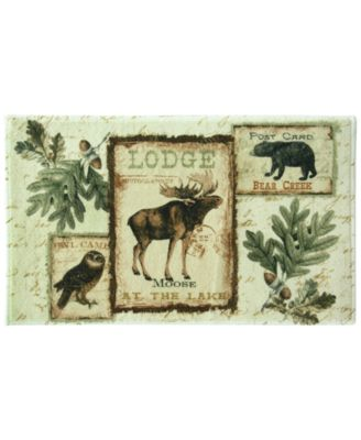 "Lodge Memories 20"" x 33"" Graphic-Print Bath Rug"
