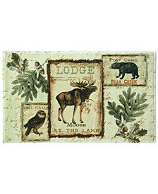 "Bacova Lodge Memories 20"" x 33"" Graphic-Print Bath Rug"