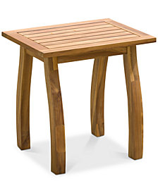 Tennon Acacia Accent Table, Quick Ship