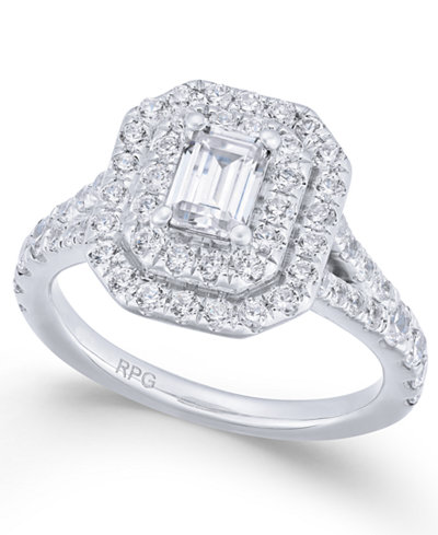 Diamond Halo Engagement Ring (1-3/4 ct. t.w.) in 14k White Gold