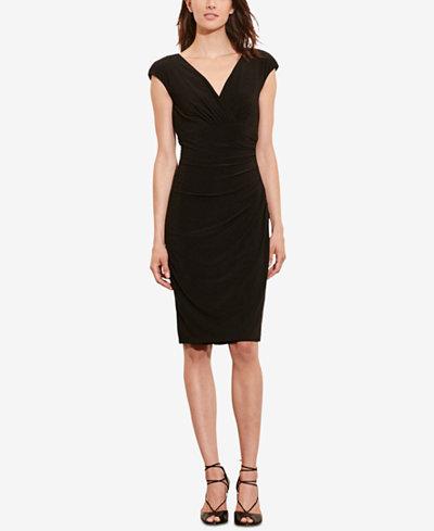 Lauren Ralph Lauren Cap-Sleeve Jersey Dress