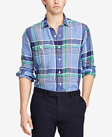 Polo Ralph Lauren Men's Classic-Fit Linen Workshirt