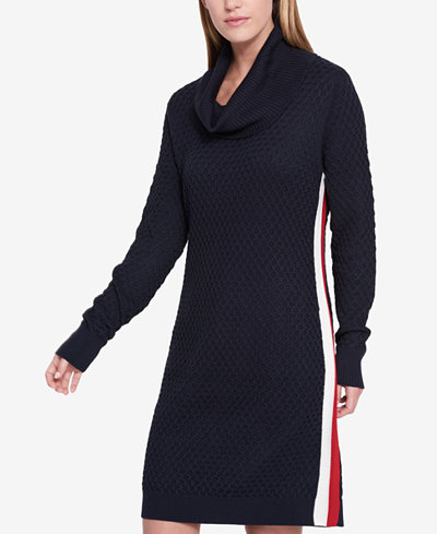 Tommy Hilfiger Cowl Neck Sweater Dress Created For Macy S
