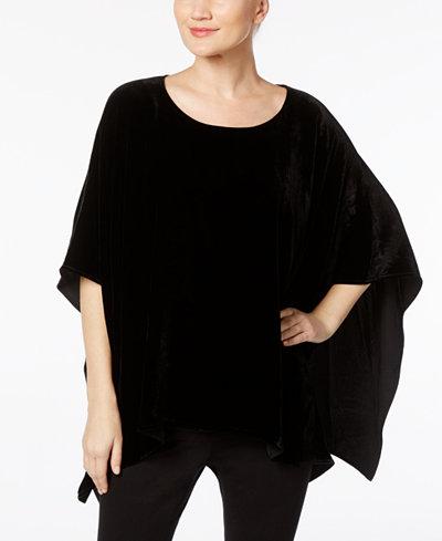 Anne Klein Velvet Capelet Sweater