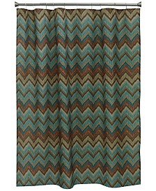 "Bacova Sierra 70"" x 72"" Zig-Zag Printed Shower Curtain"