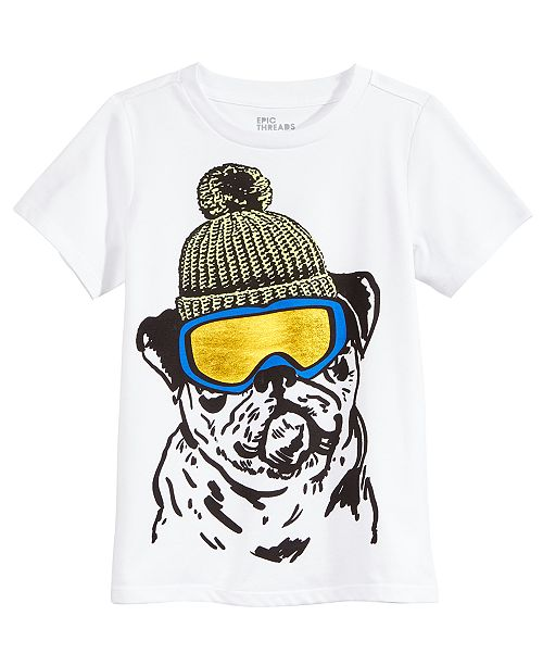 Epic Threads Snow Dog Graphic-Print T-Shirt, Little Boys, Created for Macy's