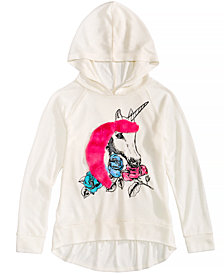 Belle Du Jour Hooded Unicorn Top, Big Girls