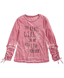 Kandy Kiss Rebel Lace-Up Sleeve T-Shirt, Big Girls