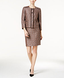 Nine West Four-Button Tweed Blazer & Pencil Skirt