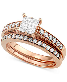 Diamond Quad Bridal Set (2 ct. t.w.) in 14k Rose Gold