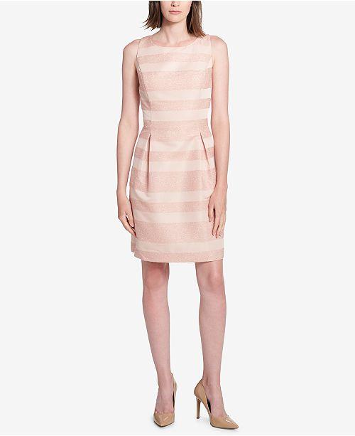 Tommy Hilfiger Striped Pleated Dress