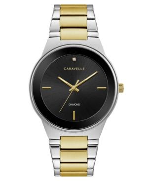 Designed by Bulova Men's Diamond-Accent Two-Tone Stainless Steel Bracelet Watch 40mm