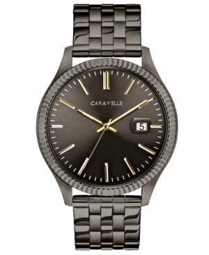 Designed by Bulova Men's Gunmetal Stainless Steel Bracelet Watch 41mm