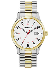 Caravelle Men's Two-Tone Stainless Steel Bracelet Watch 40mm