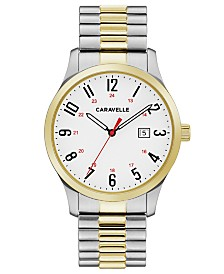 Caravelle Designed by Bulova  Men's Two-Tone Stainless Steel Bracelet Watch 40mm