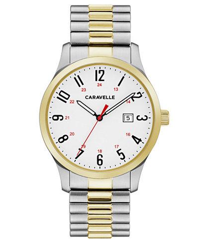 Caravelle Men's Two-Tone Stainless Steel Bracelet Watch 40mm