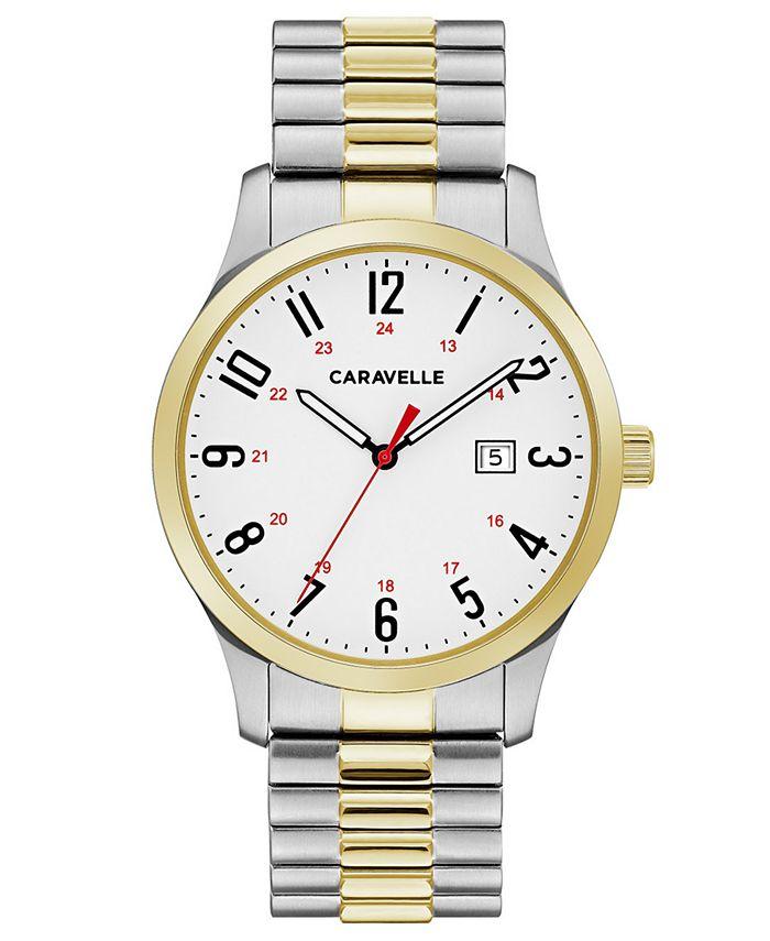 Caravelle - Men's Two-Tone Stainless Steel Bracelet Watch 40mm