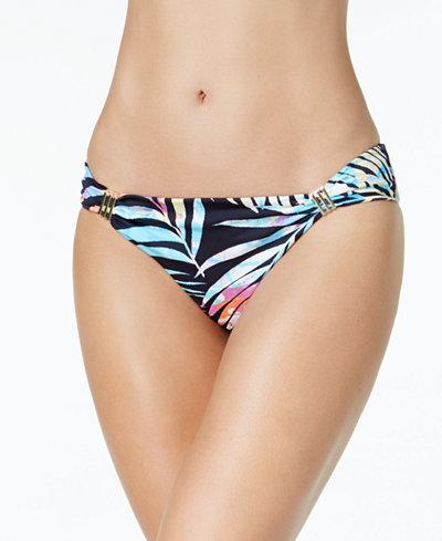 Bar III Tie-Dyed Cheeky Hardware Bikini Bottoms, Created for Macy's
