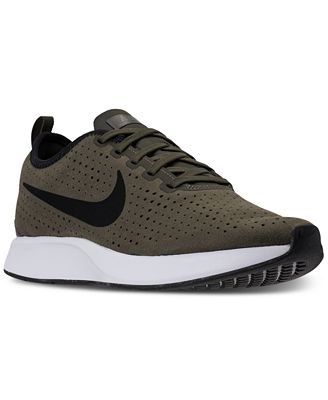 Nike Men's Dual tone Racer Premium Casual Sneakers (Cargo Khaki/Dark Stucco/Velvet Brown)