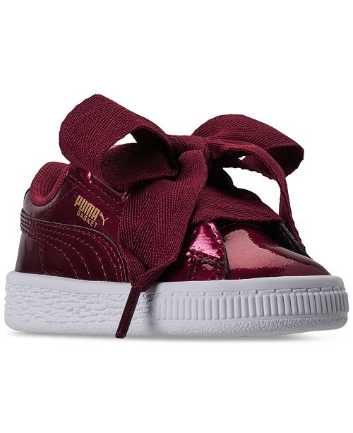 9c242a049088 ... Puma Toddler Girls  Basket Heart Glam Casual Sneakers from Finish ...
