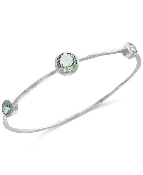 EFFY Collection Final Call by EFFY® Green Amethyst Station Bangle Bracelet (8-5/8 ct. t.w.) in Sterling Silver